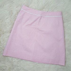Lilly Pulitzer Pink & White Striped A Line Skirt